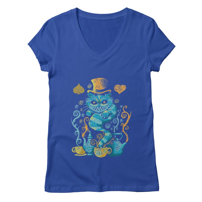 Wonderland Impressions Women's V-Neck by letterq's Artist Shop