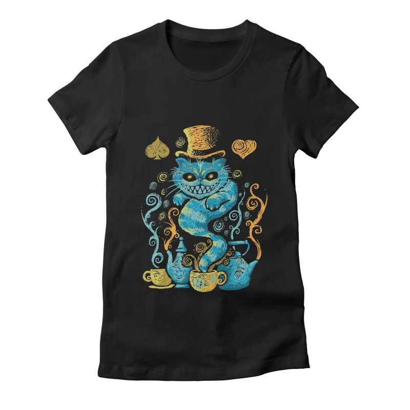 Wonderland Impressions Women's Fitted T-Shirt by letterq's Artist Shop
