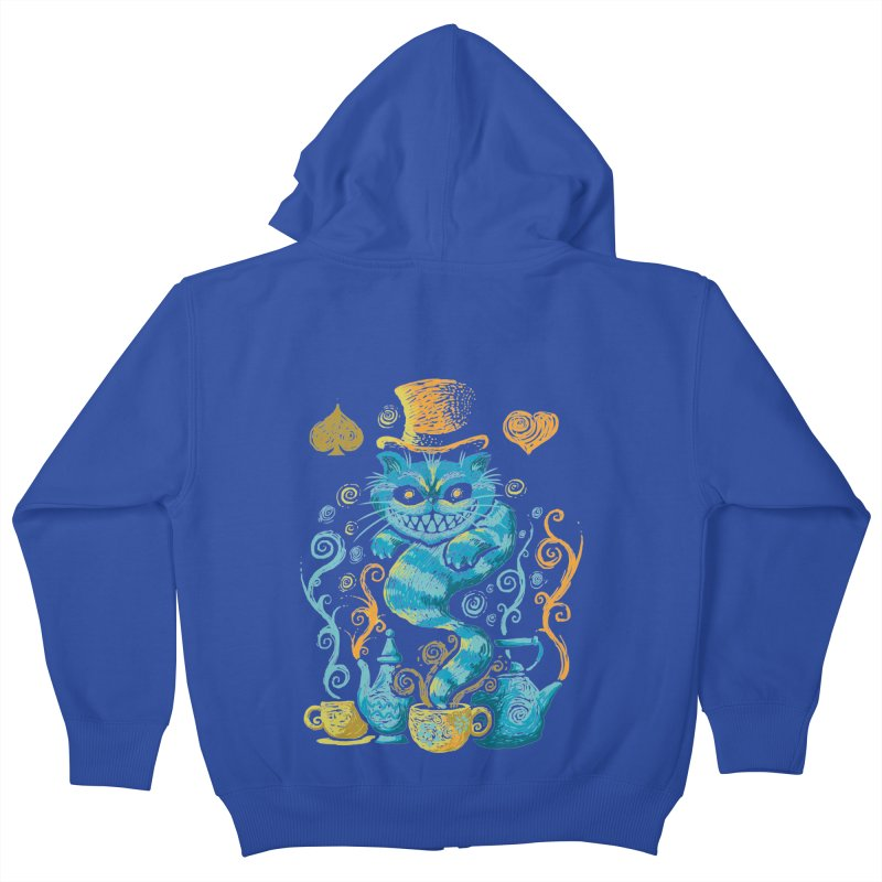 Wonderland Impressions Kids Zip-Up Hoody by letterq's Artist Shop