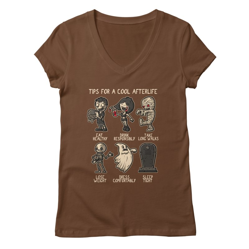 Cool Afterlife Women's V-Neck by letterq's Artist Shop