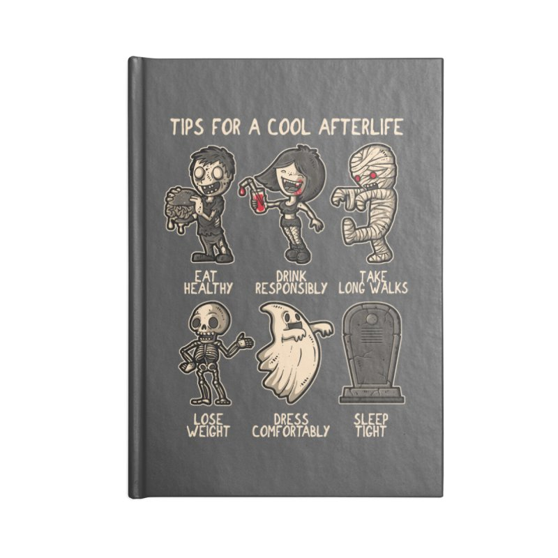 Cool Afterlife Accessories Notebook by letterq's Artist Shop