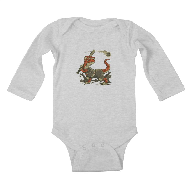 Fight The Asteroid Kids Baby Longsleeve Bodysuit by letterq's Artist Shop