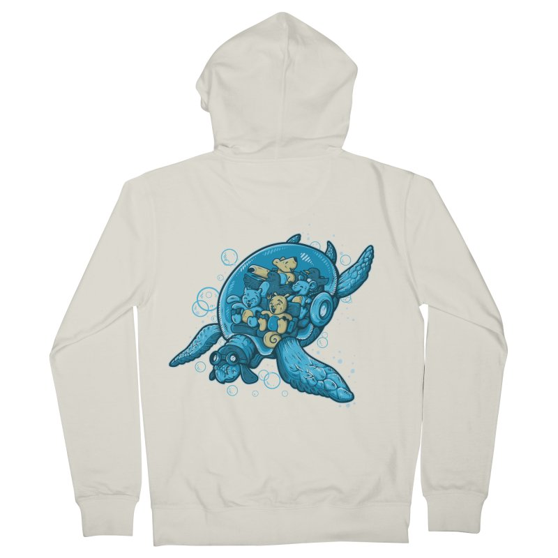 Flying Deep Men's Zip-Up Hoody by letterq's Artist Shop