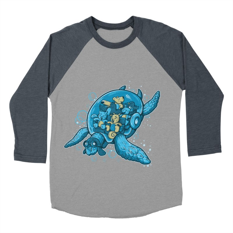 Flying Deep Men's Baseball Triblend T-Shirt by letterq's Artist Shop