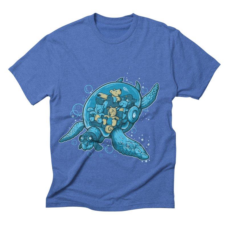 Flying Deep Men's Triblend T-shirt by letterq's Artist Shop