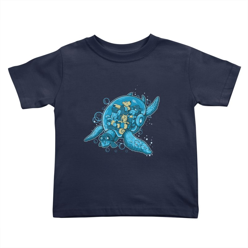 Flying Deep Kids Toddler T-Shirt by letterq's Artist Shop