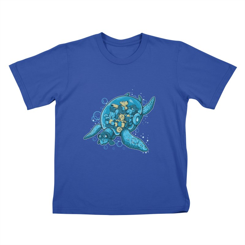Flying Deep Kids T-shirt by letterq's Artist Shop