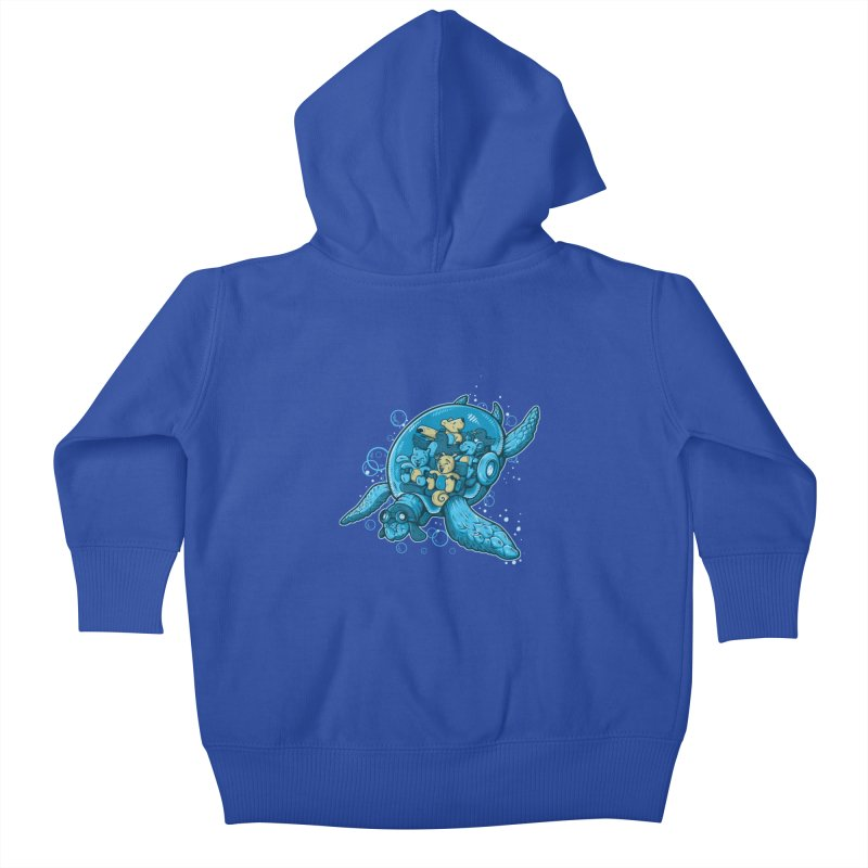 Flying Deep Kids Baby Zip-Up Hoody by letterq's Artist Shop