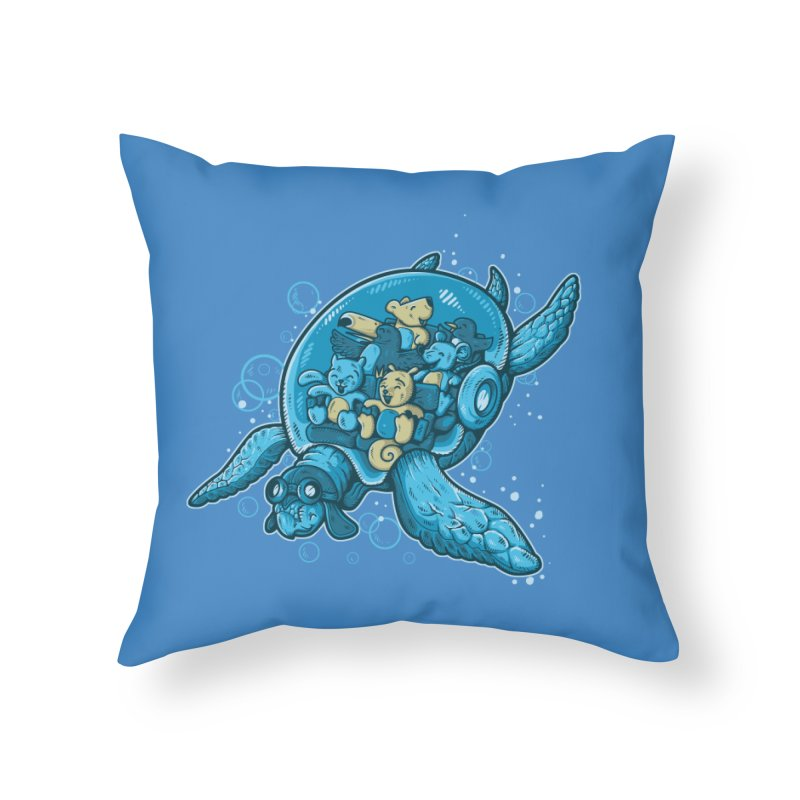 Flying Deep Home Throw Pillow by letterq's Artist Shop