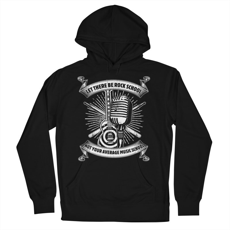 Microphone tee in Men's French Terry Pullover Hoody Black by LetThereBeRock's Artist Shop