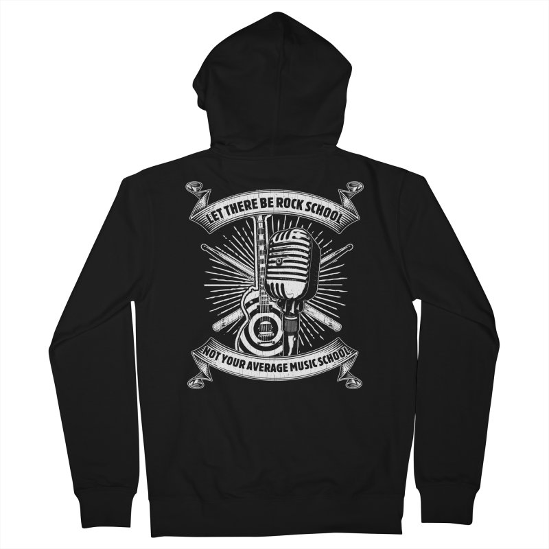 Microphone tee Men's French Terry Zip-Up Hoody by LetThereBeRock's Artist Shop