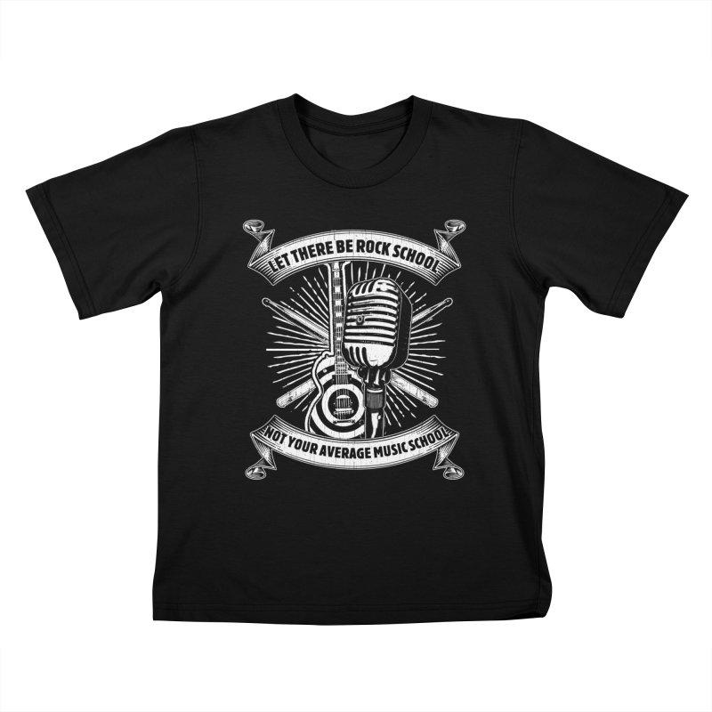 Microphone tee Kids T-Shirt by LetThereBeRock's Artist Shop