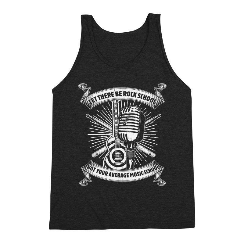 Microphone tee Men's Triblend Tank by LetThereBeRock's Artist Shop