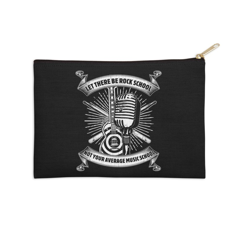 Microphone tee Accessories Zip Pouch by LetThereBeRock's Artist Shop
