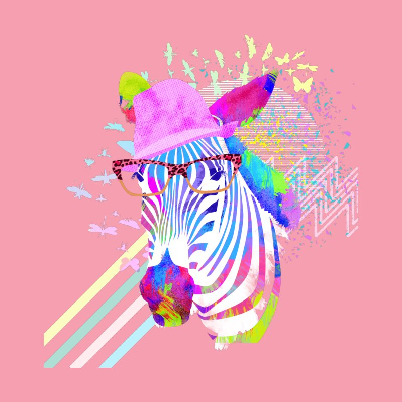 Funky Zebra Women's Fitted T-Shirt by lev's Artist Shop