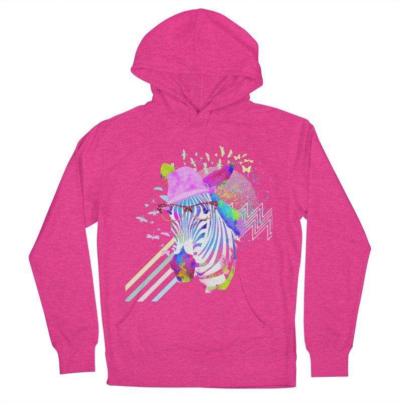 Funky Zebra Women's Pullover Hoody by lev's Artist Shop