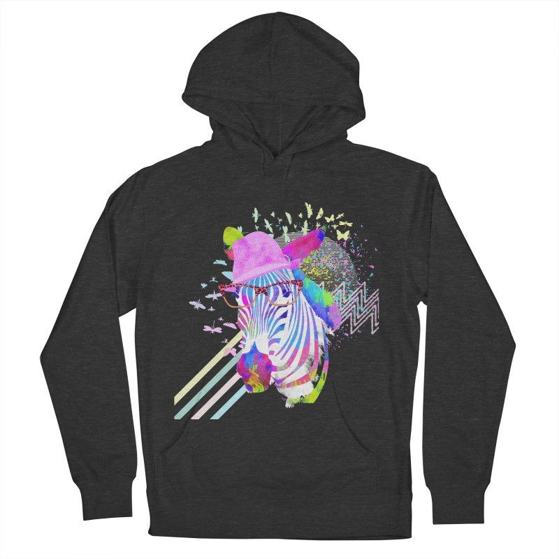 Funky Zebra Men's Pullover Hoody by lev's Artist Shop