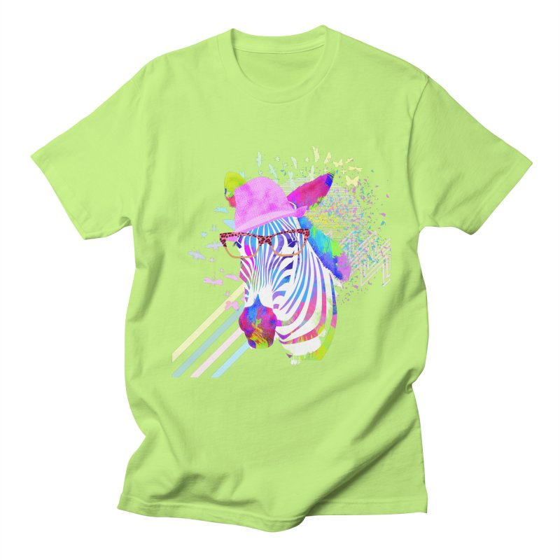 Funky Zebra Men's T-Shirt by lev's Artist Shop