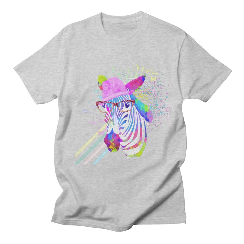 Funky Zebra Men's T-shirt by lev's Artist Shop