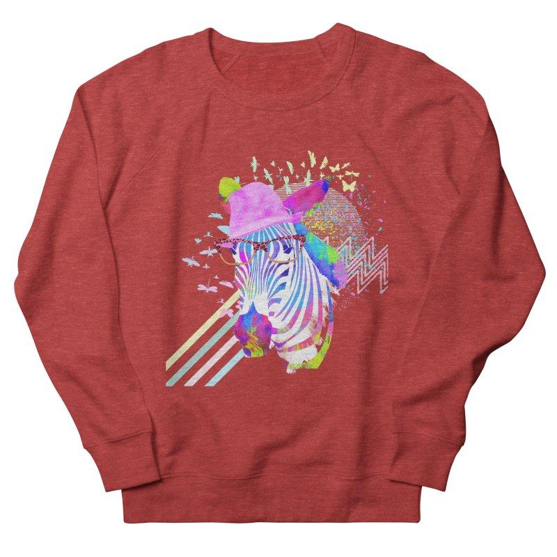 Funky Zebra Women's Sweatshirt by lev's Artist Shop