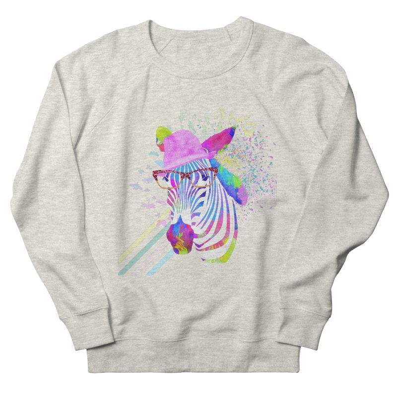 Funky Zebra Men's Sweatshirt by lev's Artist Shop