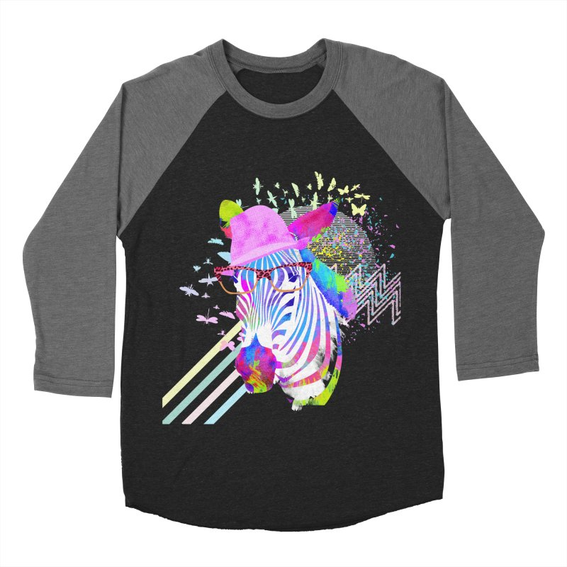 Funky Zebra Women's Baseball Triblend T-Shirt by lev's Artist Shop