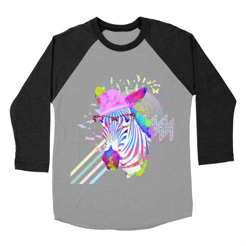 Funky Zebra Men's Baseball Triblend T-Shirt by lev's Artist Shop