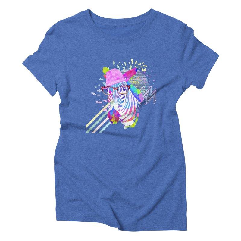 Funky Zebra Women's Triblend T-shirt by lev's Artist Shop