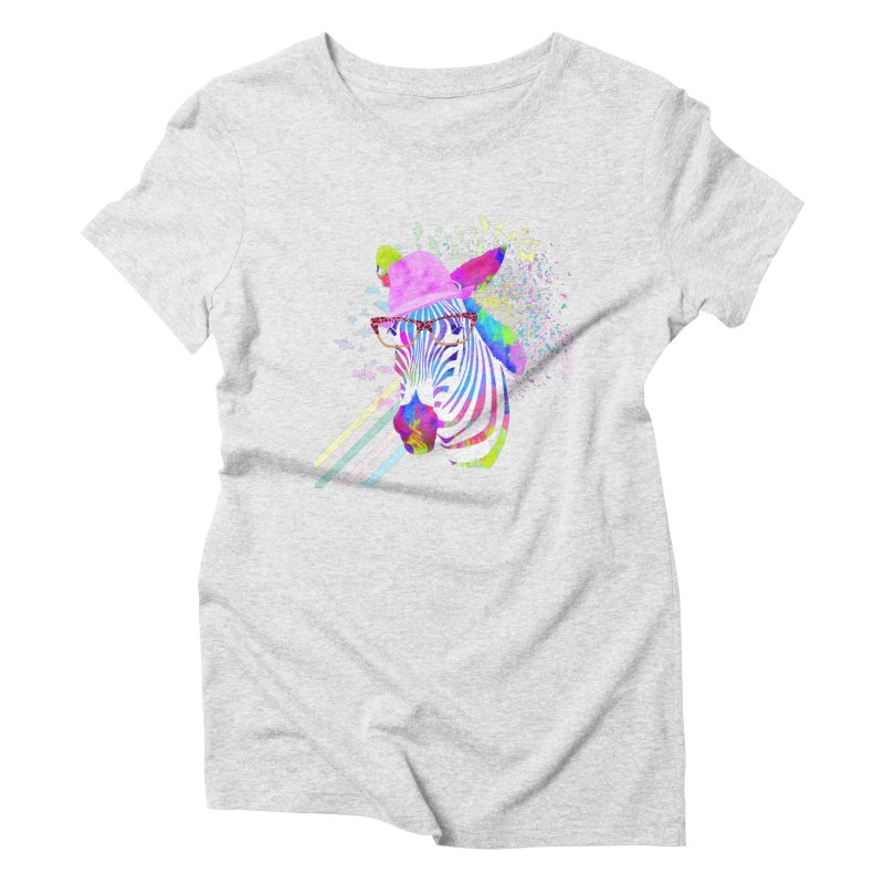 Funky Zebra Women's Triblend T-Shirt by lev's Artist Shop