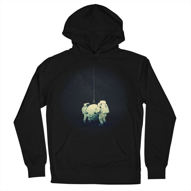 Hanging the moon Women's Pullover Hoody by lev's Artist Shop