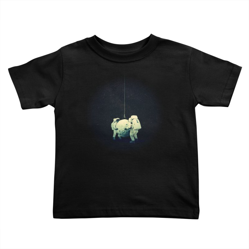 Hanging the moon Kids Toddler T-Shirt by lev's Artist Shop