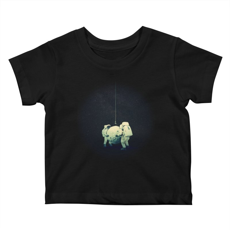 Hanging the moon Kids Baby T-Shirt by lev's Artist Shop