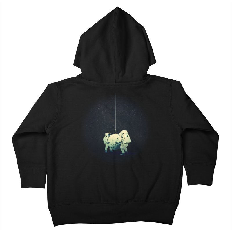 Hanging the moon Kids Toddler Zip-Up Hoody by lev's Artist Shop