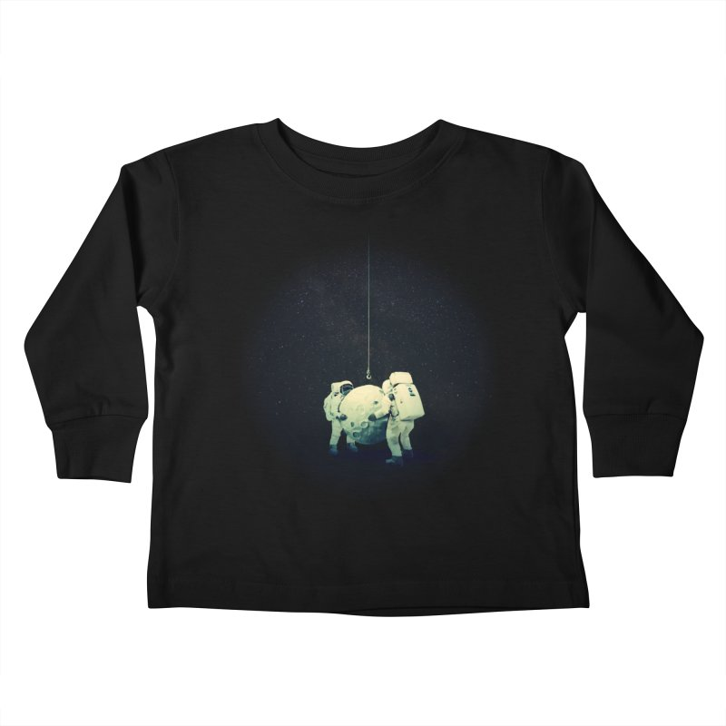 Hanging the moon Kids Toddler Longsleeve T-Shirt by lev's Artist Shop