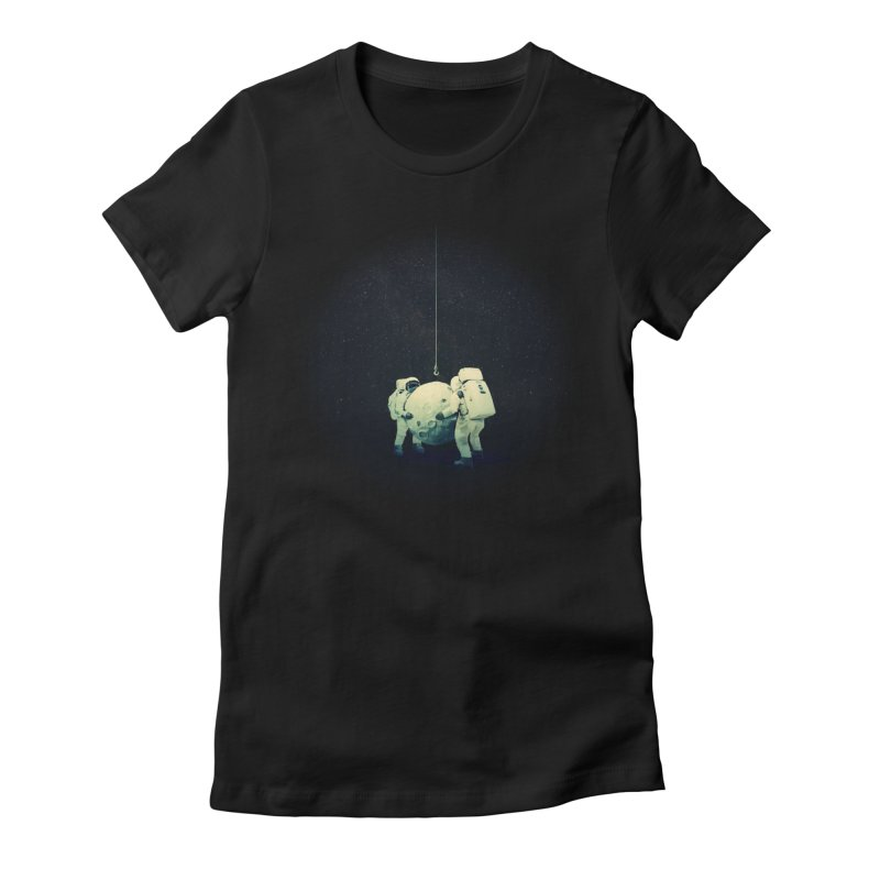 Hanging the moon Women's T-Shirt by lev's Artist Shop