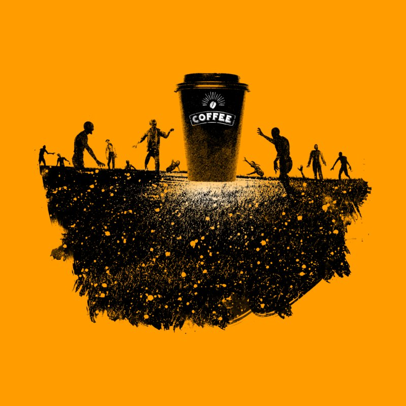 Zombie need coffee  by lev's Artist Shop