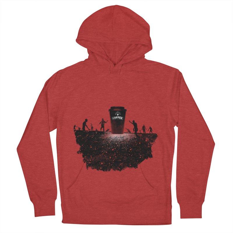 Zombie need coffee  Women's Pullover Hoody by lev's Artist Shop