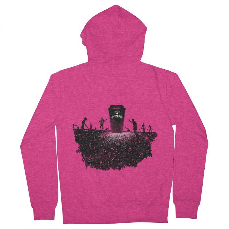 Zombie need coffee  Women's Zip-Up Hoody by lev's Artist Shop