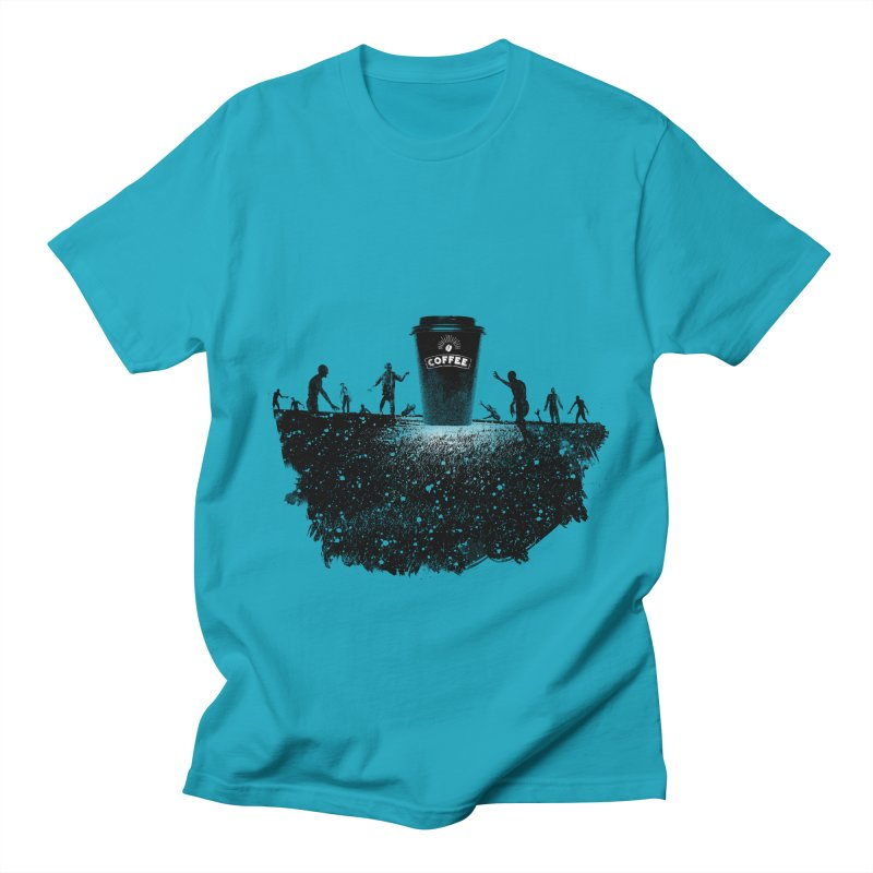 Zombie need coffee  Men's T-Shirt by lev's Artist Shop