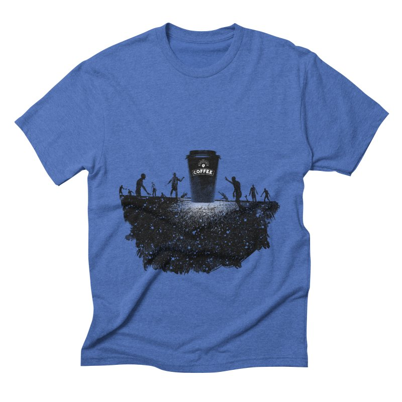 Zombie need coffee  Men's Triblend T-Shirt by lev's Artist Shop