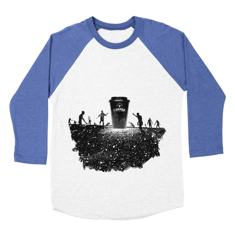 Zombie need coffee  Men's Baseball Triblend T-Shirt by lev's Artist Shop