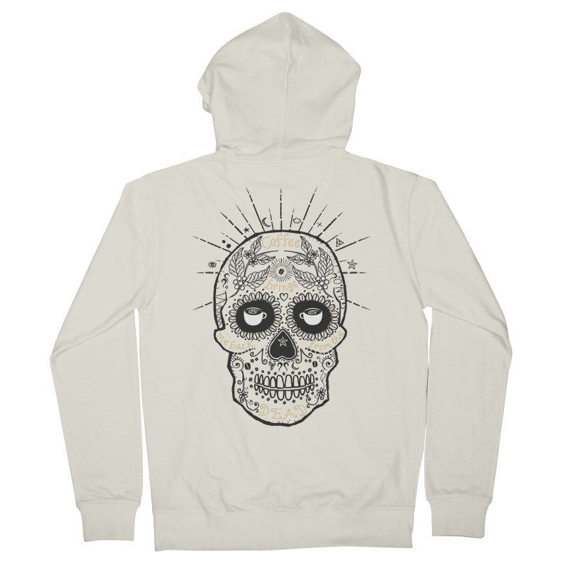 Coffee brings me back from the dead Women's Zip-Up Hoody by lev's Artist Shop