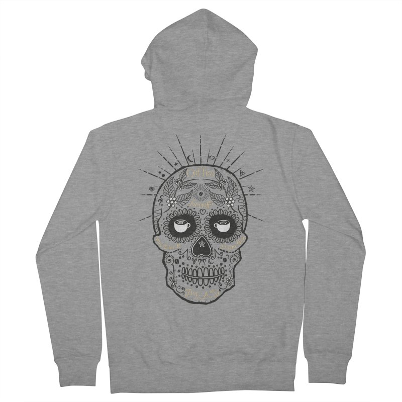 Coffee brings me back from the dead Men's Zip-Up Hoody by lev's Artist Shop