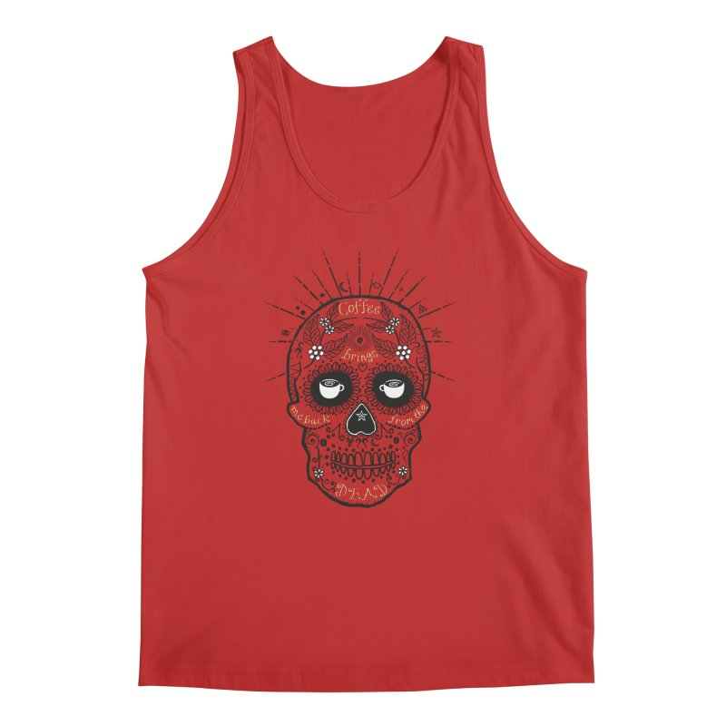 Coffee brings me back from the dead Men's Tank by lev's Artist Shop