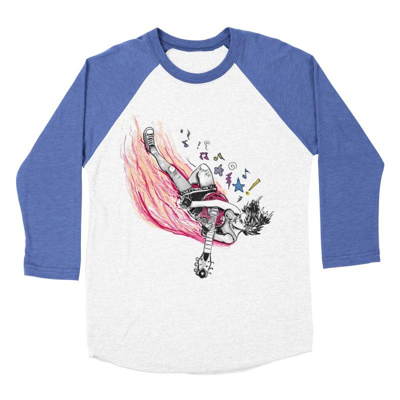 Rock & Roll Men's Baseball Triblend T-Shirt by levi's Artist Shop