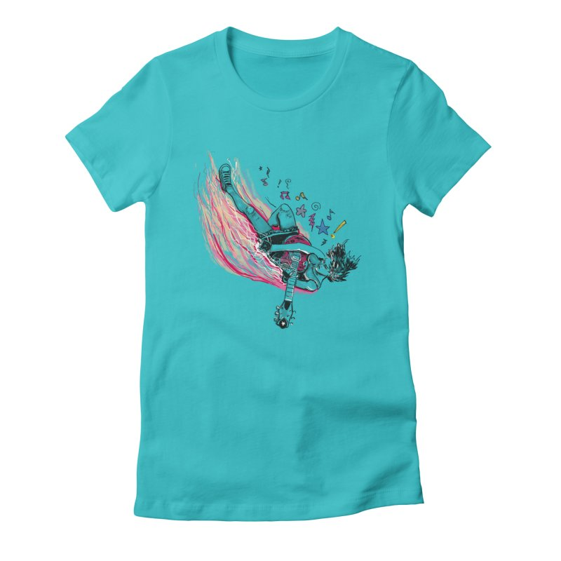 Rock & Roll Women's Fitted T-Shirt by levi's Artist Shop