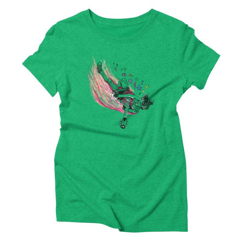 Rock & Roll Women's Triblend T-Shirt by levi's Artist Shop