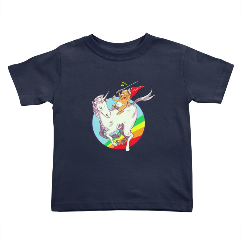 Epic Cat Attack! Kids Toddler T-Shirt by levi's Artist Shop