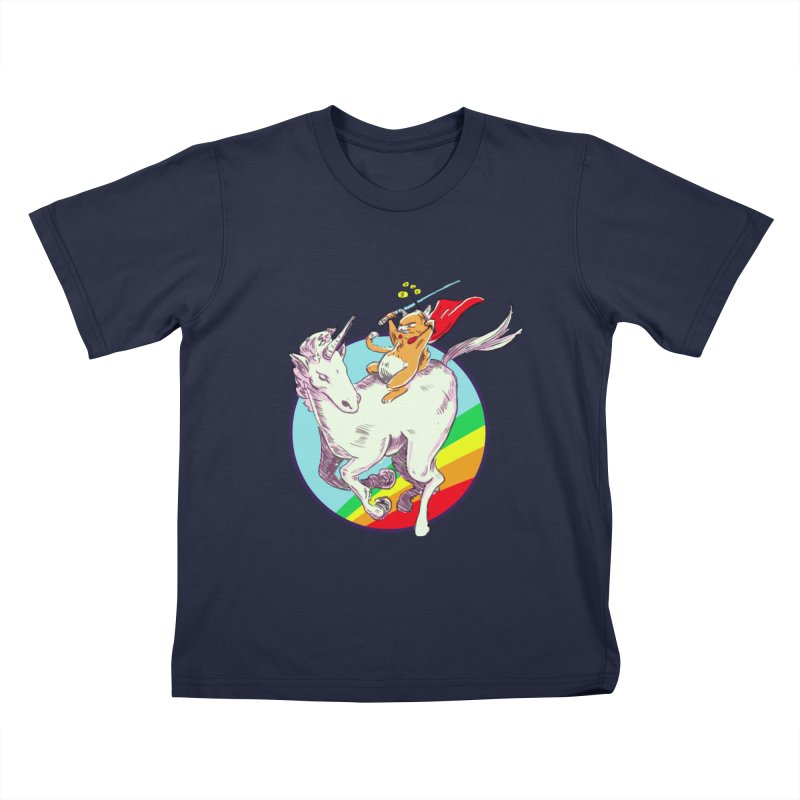 Epic Cat Attack! Kids T-Shirt by levi's Artist Shop