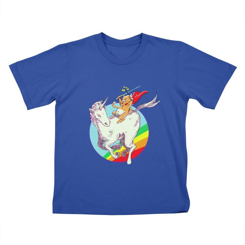 Epic Cat Attack! Kids T-Shirt by levi's Artist Shop